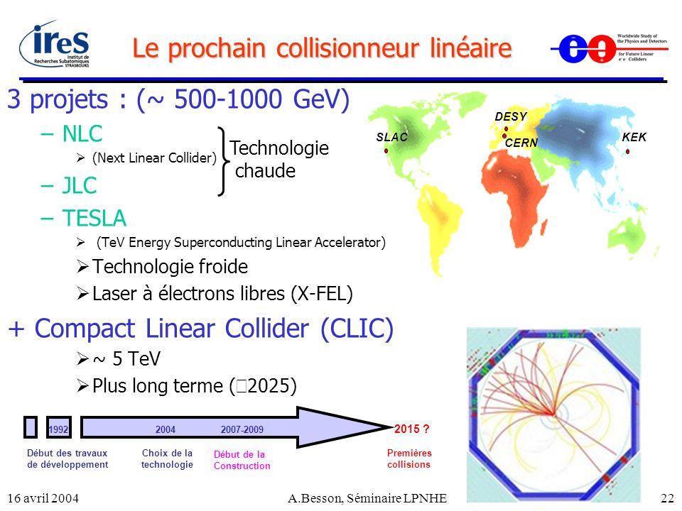Le prochain collisionneur linéaire