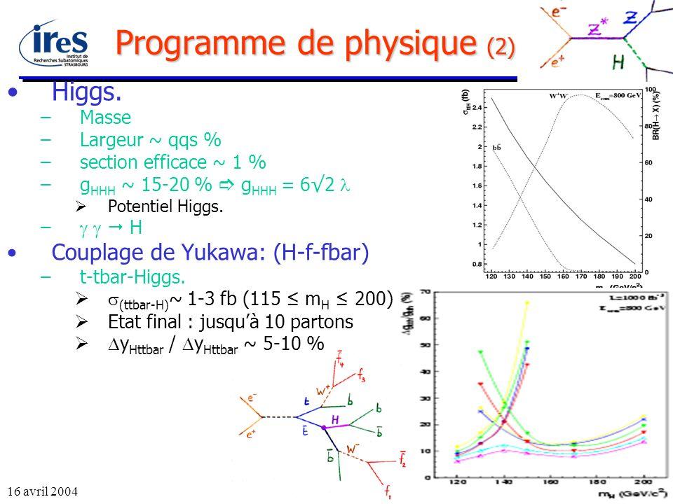 Programme de physique (2)