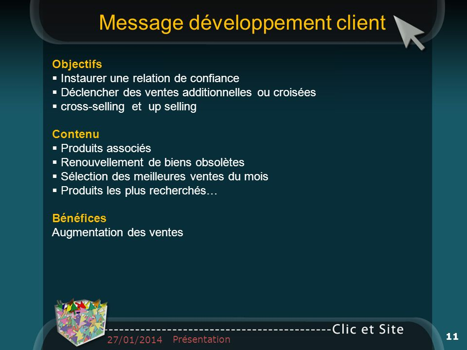 Message développement client