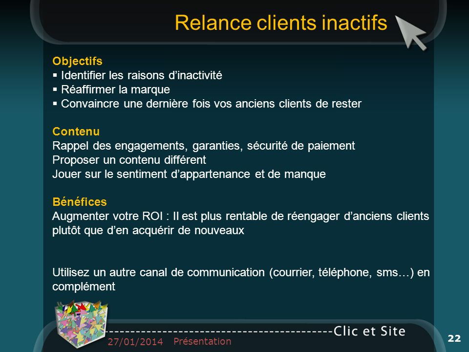 Relance clients inactifs