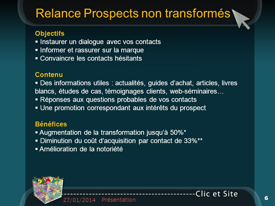Relance Prospects non transformés