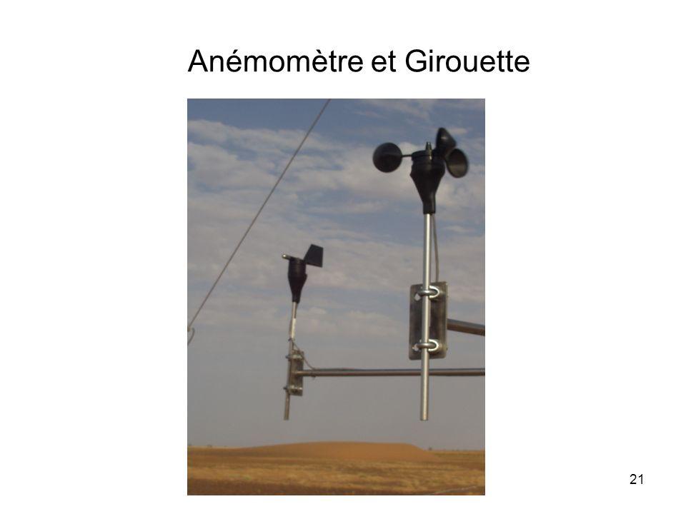 Anémomètre et Girouette