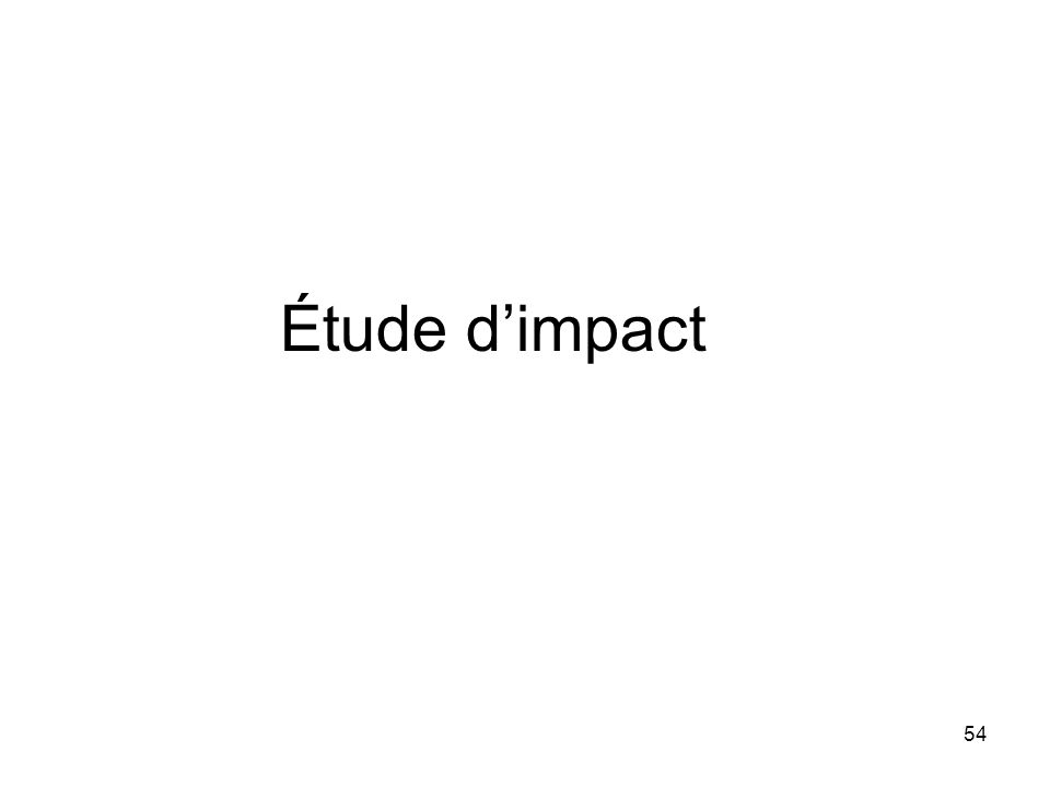 Étude d'impact