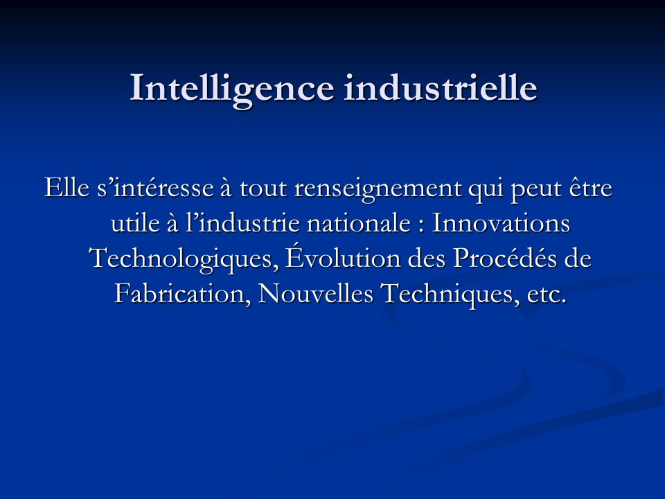 Intelligence industrielle