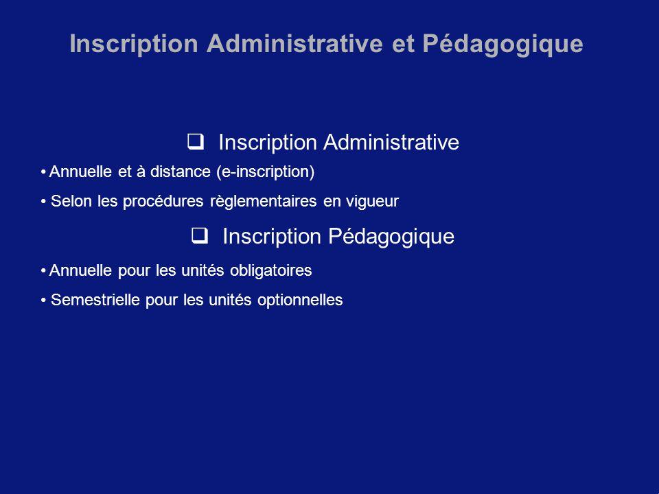 Inscription Administrative et Pédagogique