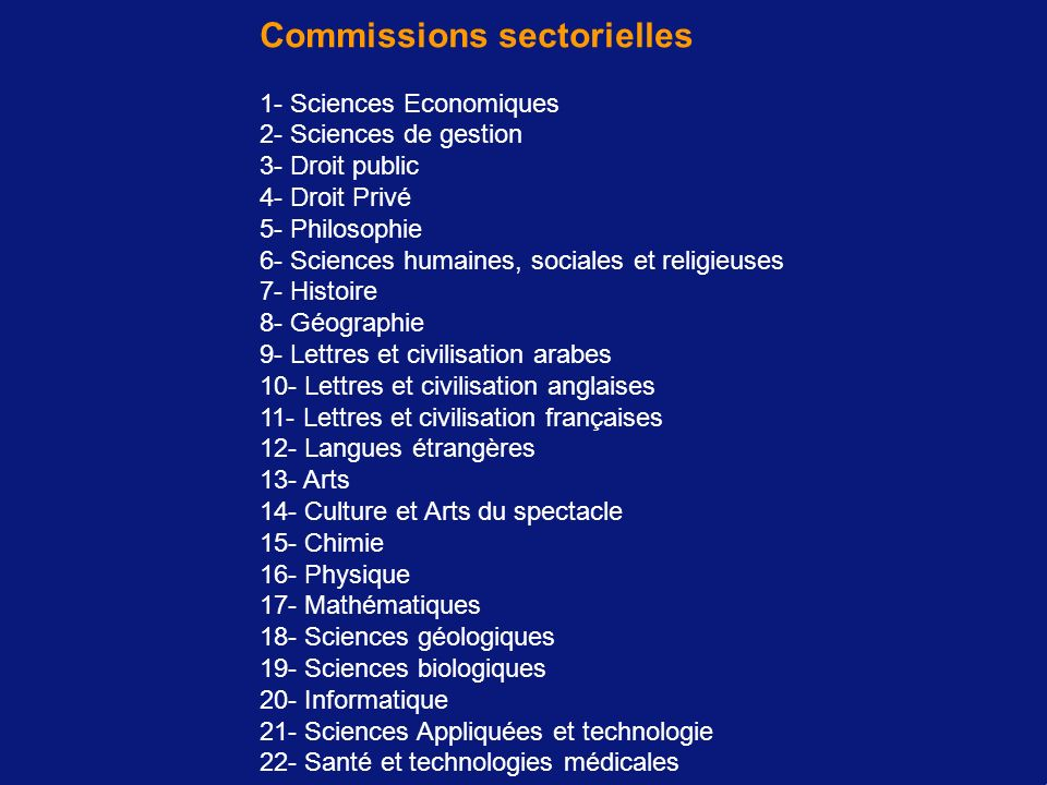 Commissions sectorielles