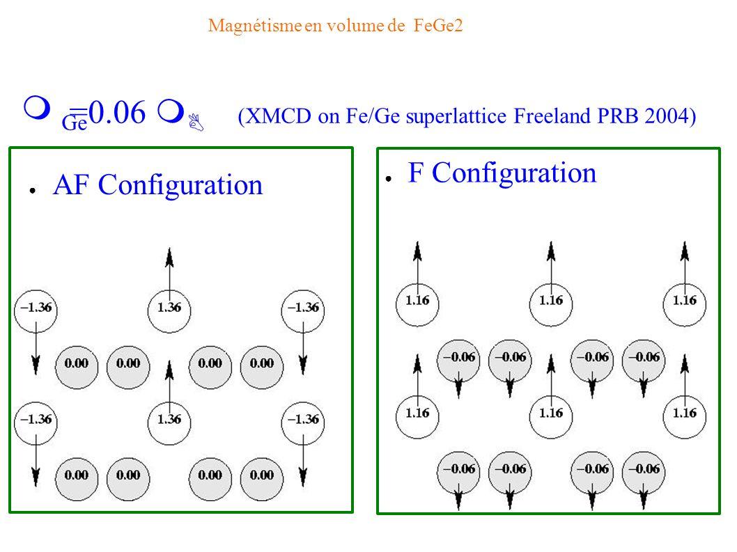 Magnétisme en volume de FeGe2