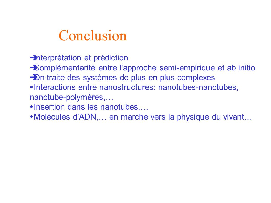 Conclusion Interprétation et prédiction