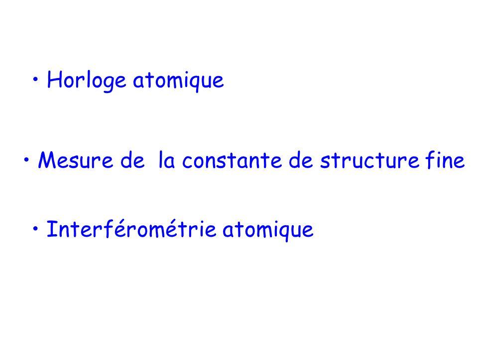 • Mesure de la constante de structure fine