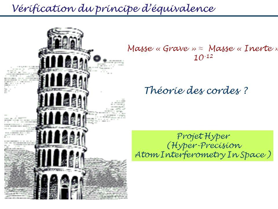 Vérification du principe d'équivalence