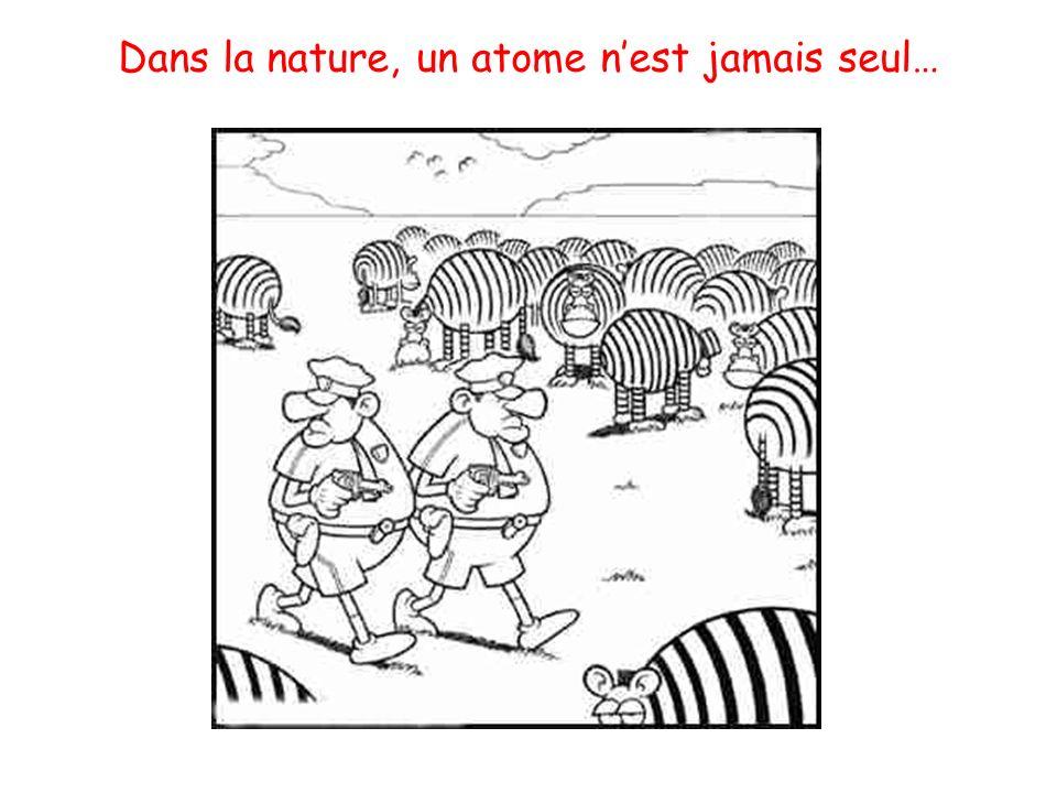 Dans la nature, un atome n'est jamais seul…