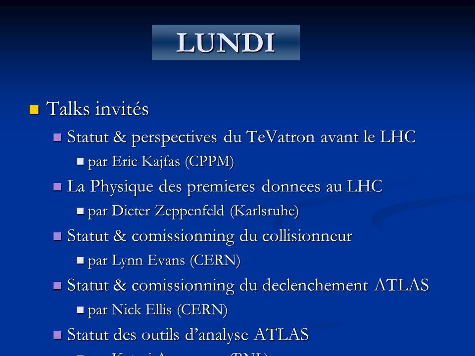 LUNDI Talks invités Statut & perspectives du TeVatron avant le LHC