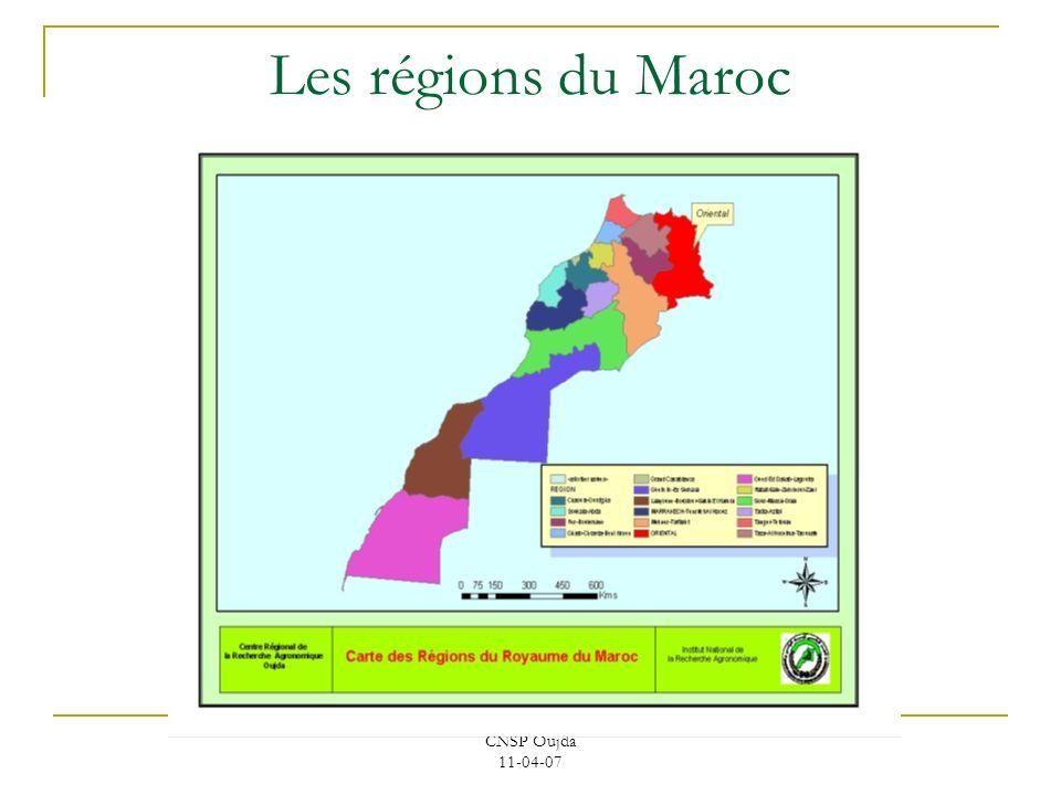 Les régions du Maroc CNSP Oujda 11-04-07.