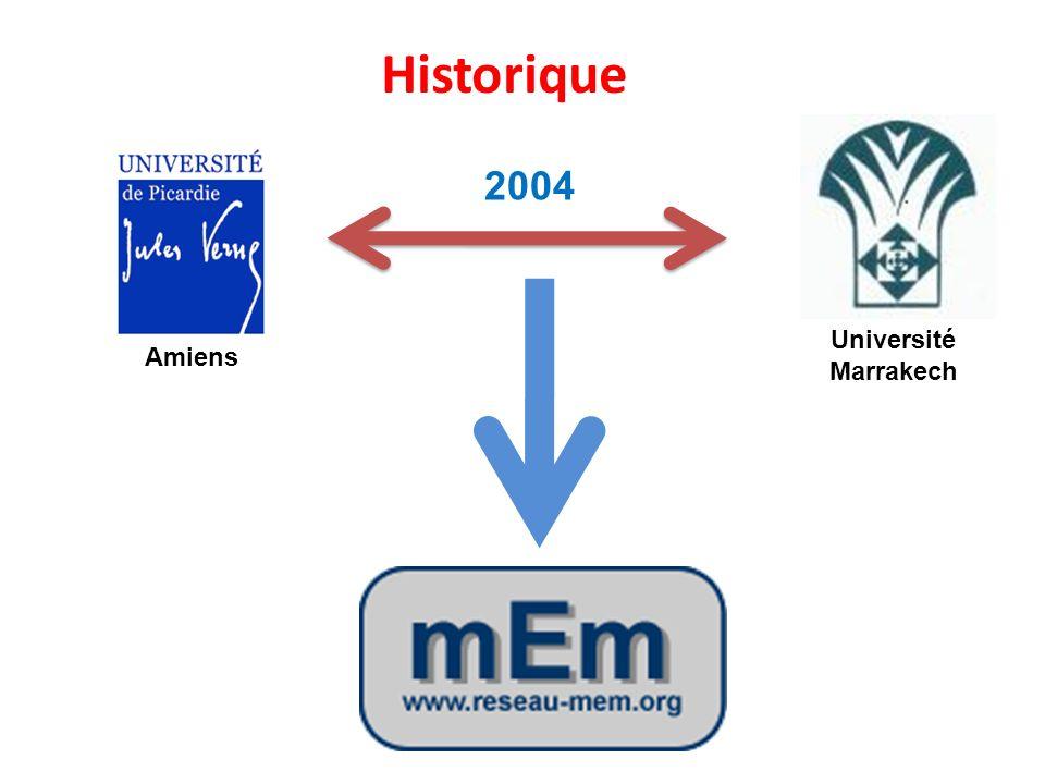 Historique 2004 Université Marrakech Amiens
