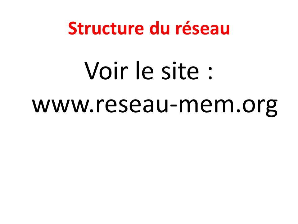 Voir le site : www.reseau-mem.org