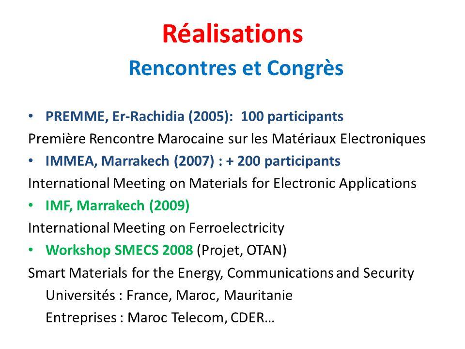 Réalisations Rencontres et Congrès