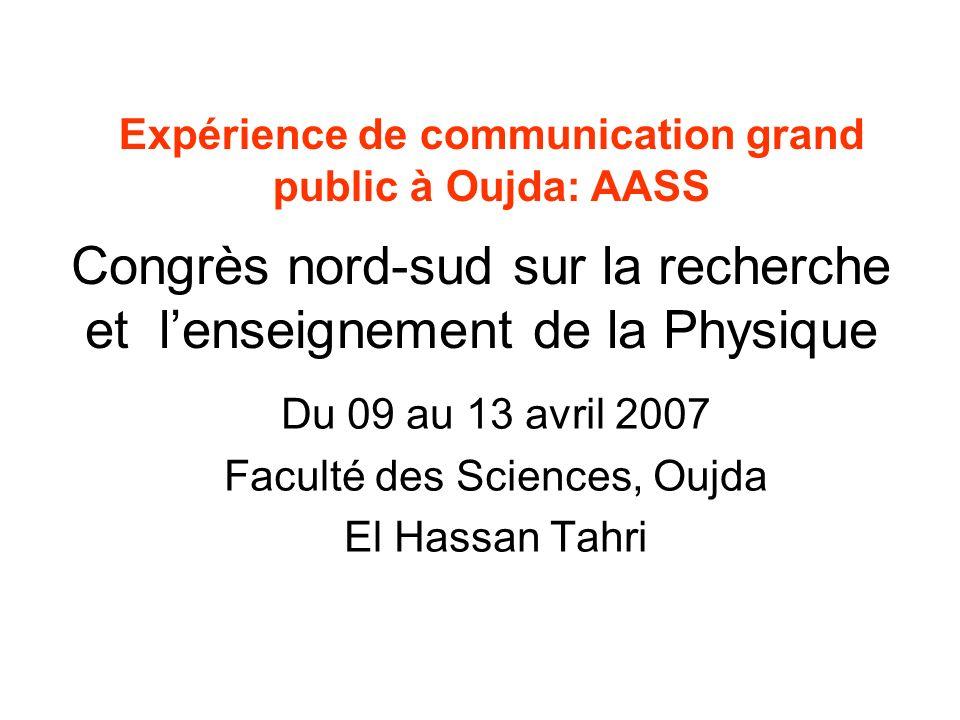 Congrès nord-sud sur la recherche et l'enseignement de la Physique