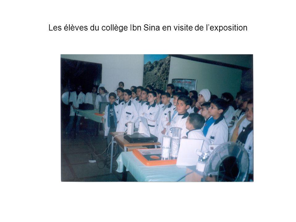 Les élèves du collège Ibn Sina en visite de l'exposition