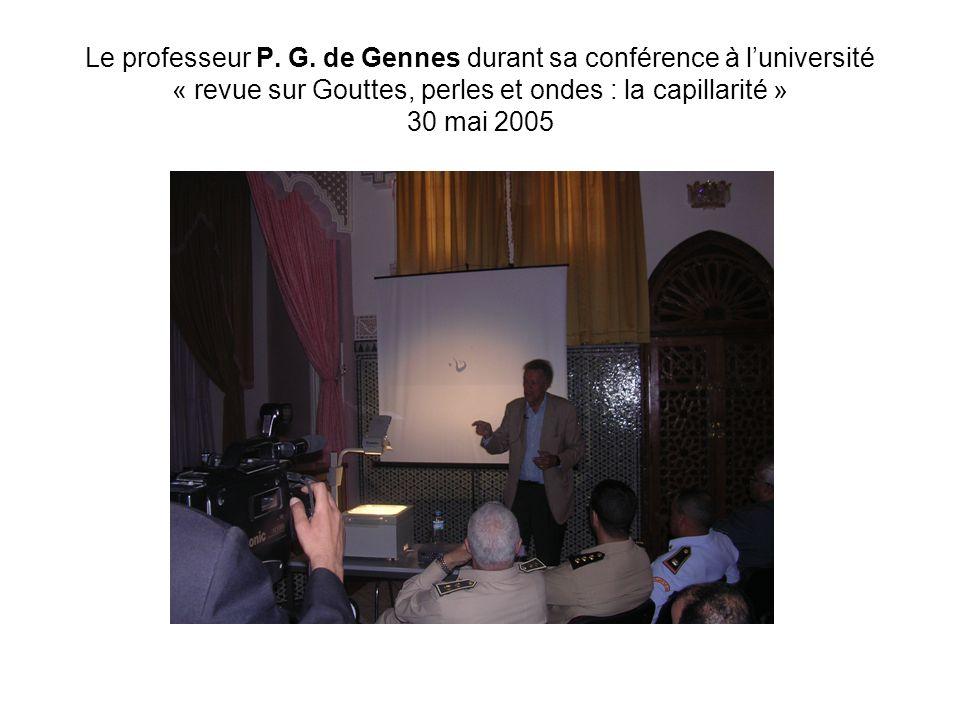 Le professeur P. G.