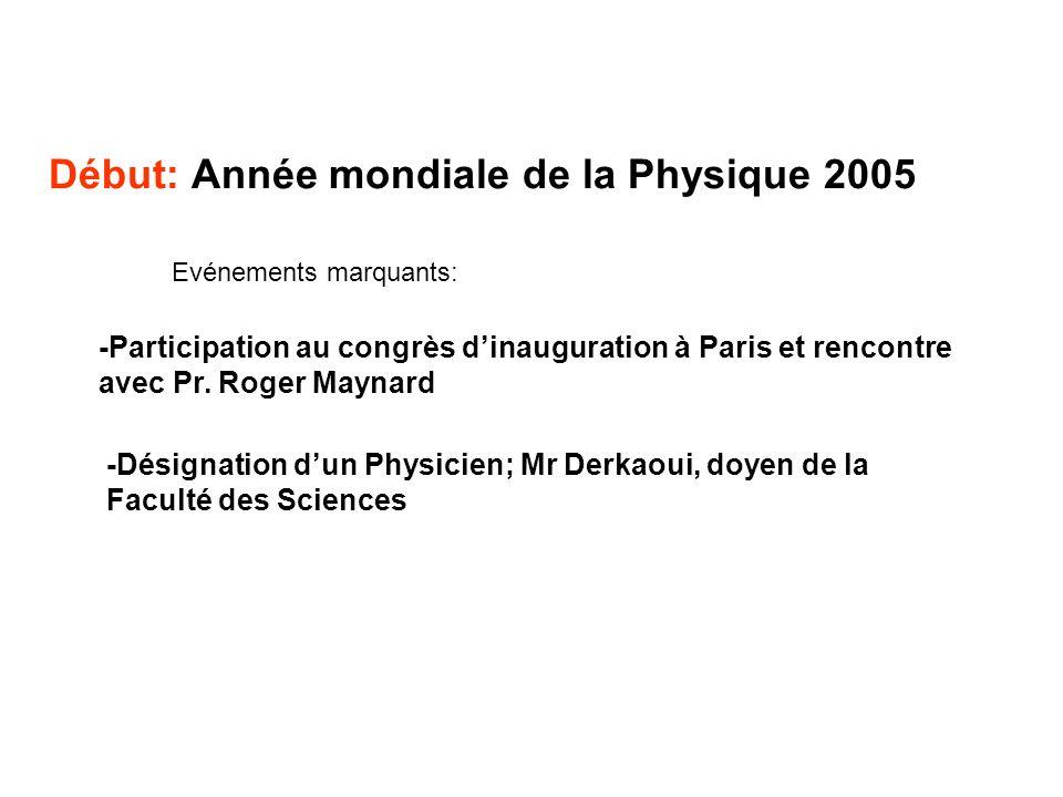 Début: Année mondiale de la Physique 2005