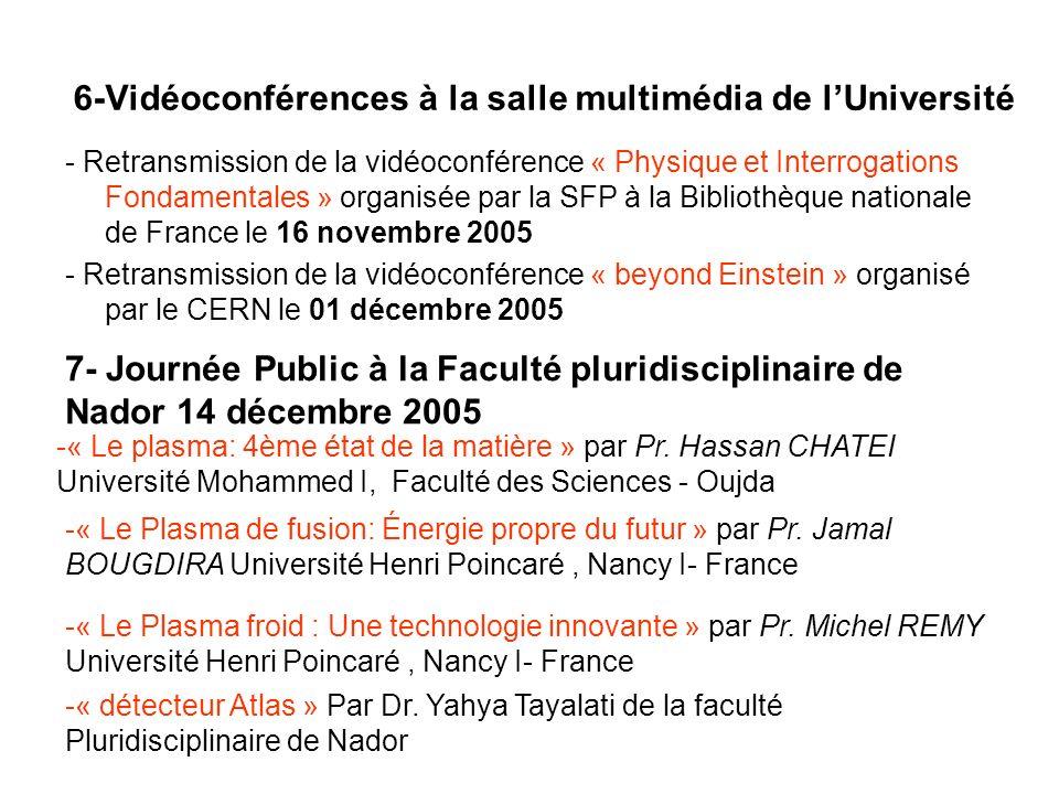 6-Vidéoconférences à la salle multimédia de l'Université