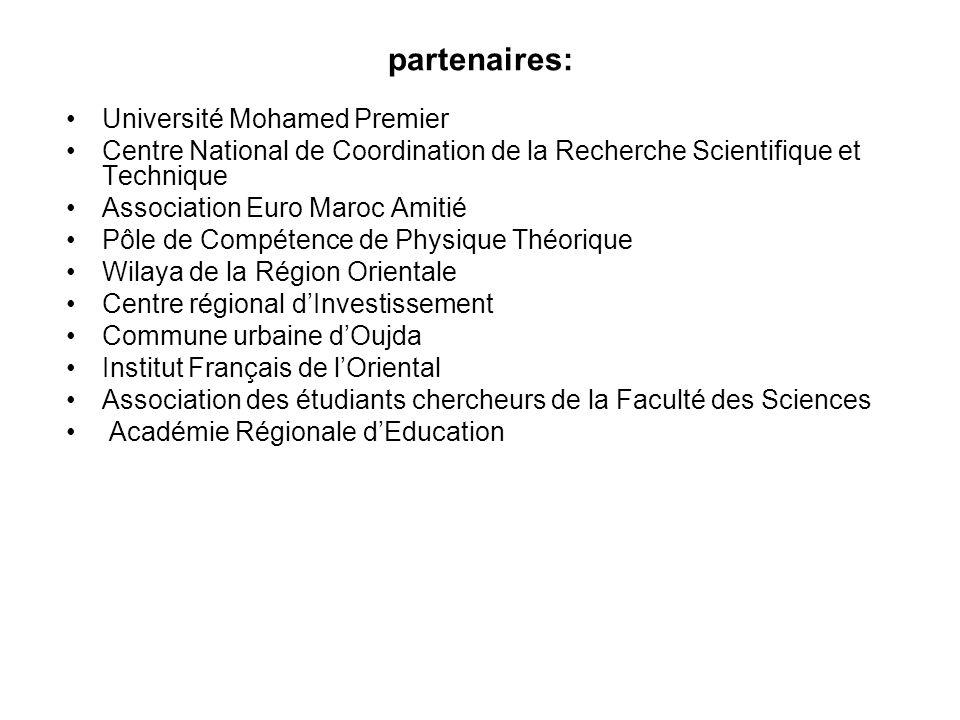 partenaires: Université Mohamed Premier