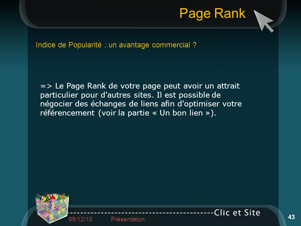 Page Rank Indice de Popularité : un avantage commercial