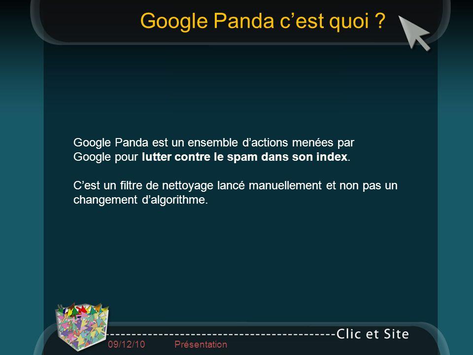 Google Panda c'est quoi