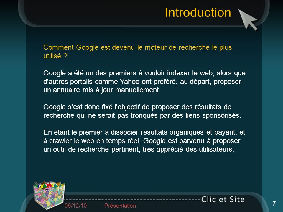 Introduction Comment Google est devenu le moteur de recherche le plus utilisé