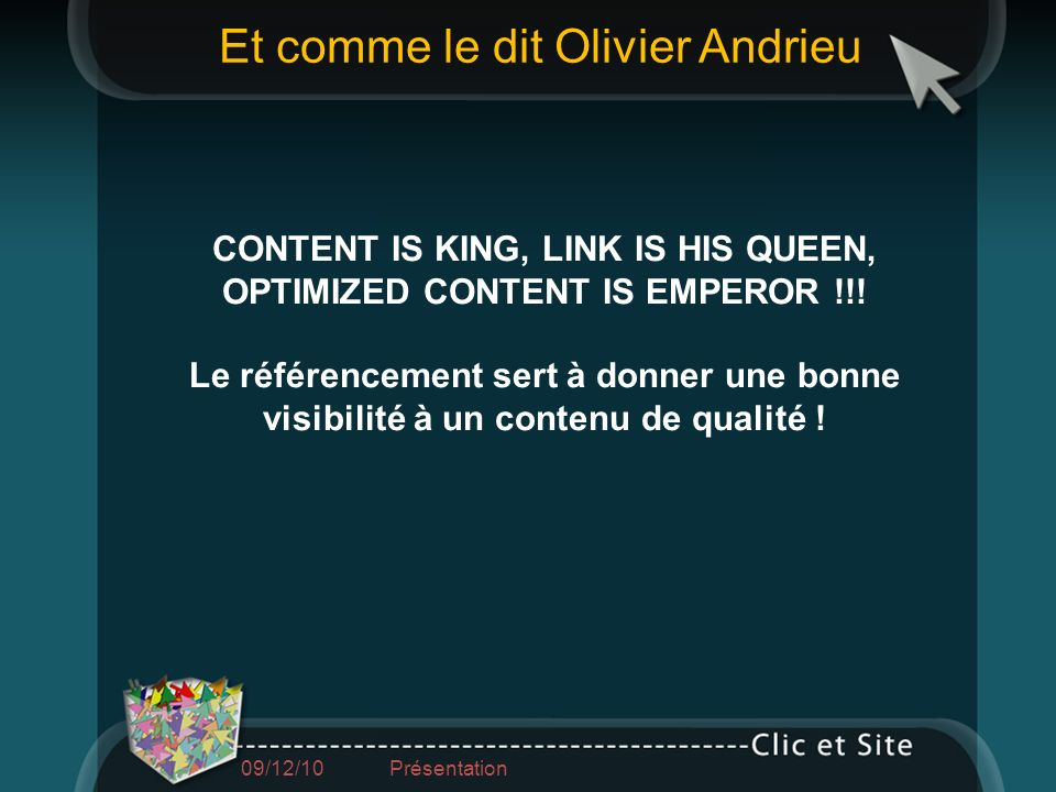 CONTENT IS KING, LINK IS HIS QUEEN, OPTIMIZED CONTENT IS EMPEROR !!!