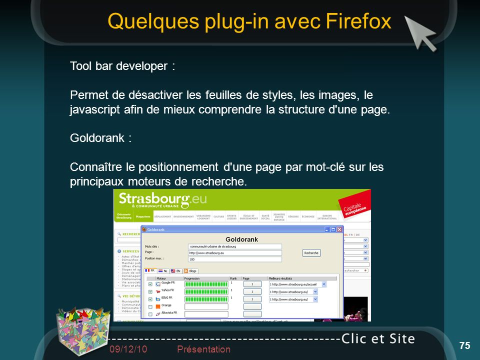 Quelques plug-in avec Firefox