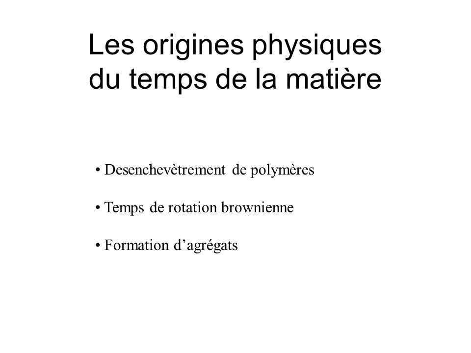 Les origines physiques du temps de la matière