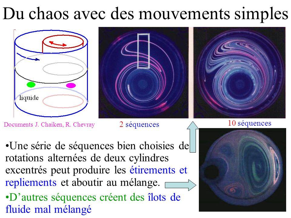 Du chaos avec des mouvements simples