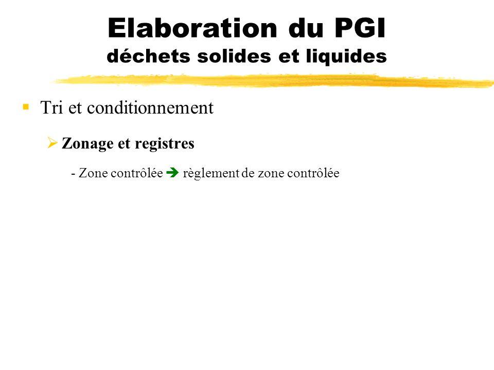 Elaboration du PGI déchets solides et liquides