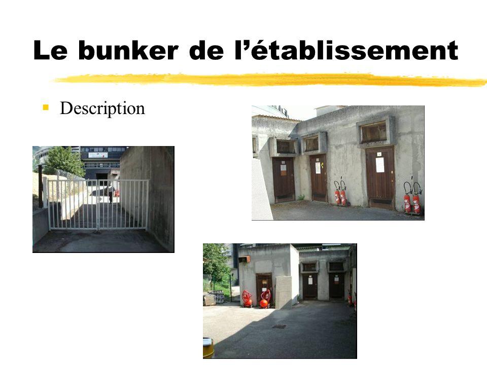 Le bunker de l'établissement