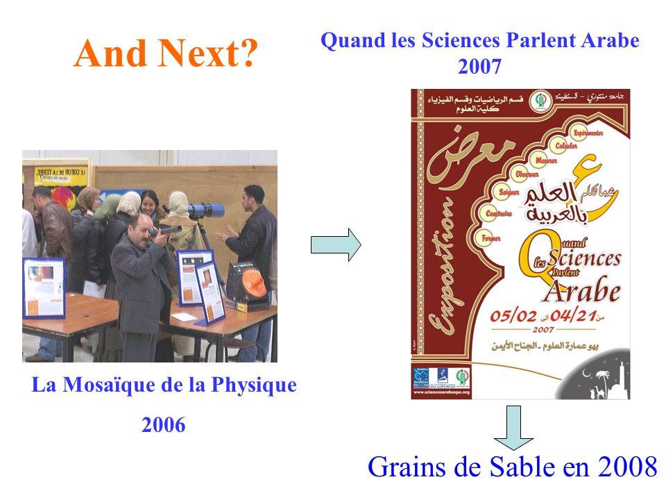 Quand les Sciences Parlent Arabe 2007 La Mosaïque de la Physique