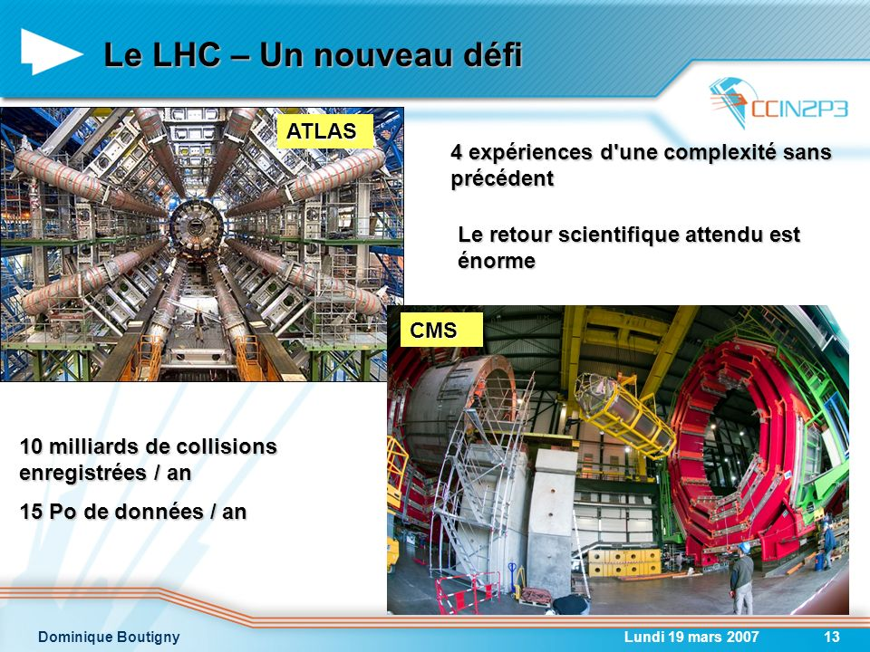 Le LHC – Un nouveau défi ATLAS