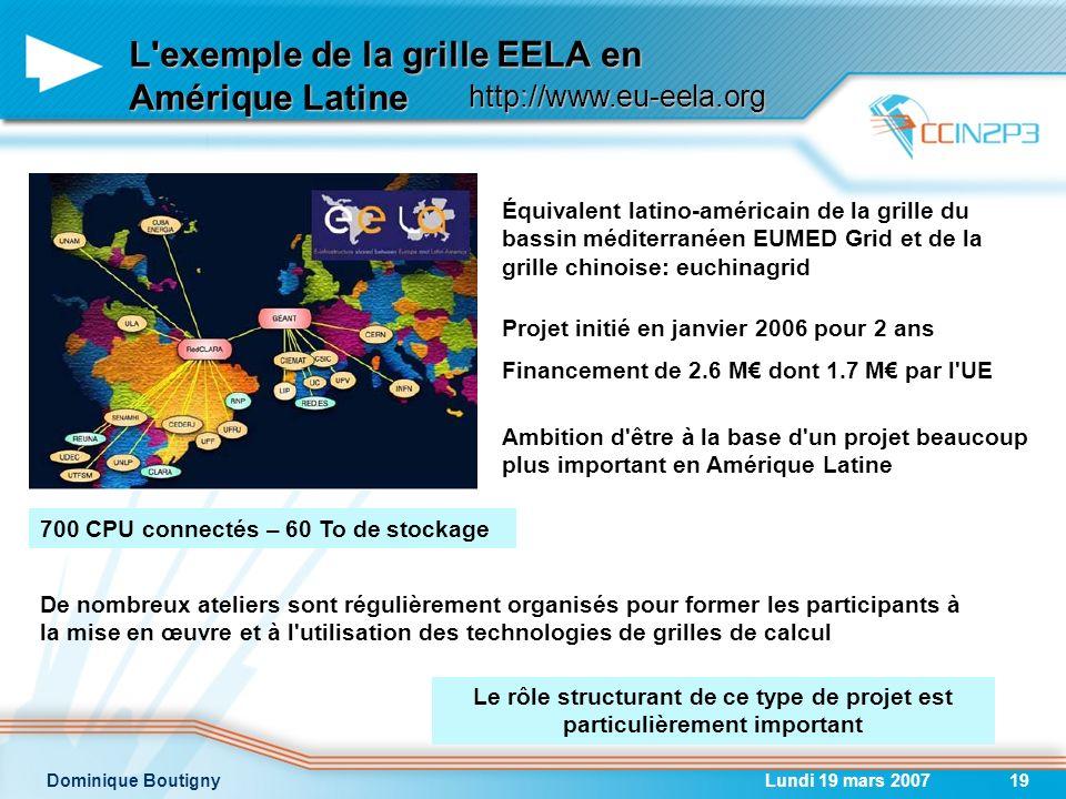 L exemple de la grille EELA en Amérique Latine