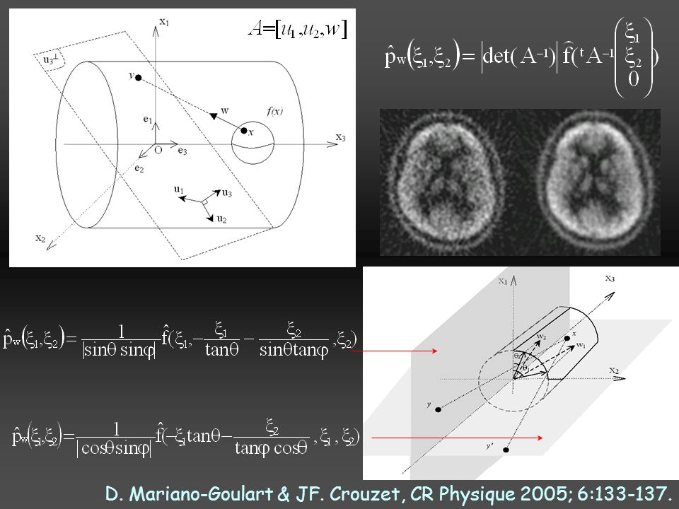 D. Mariano-Goulart & JF. Crouzet, CR Physique 2005; 6:133-137.