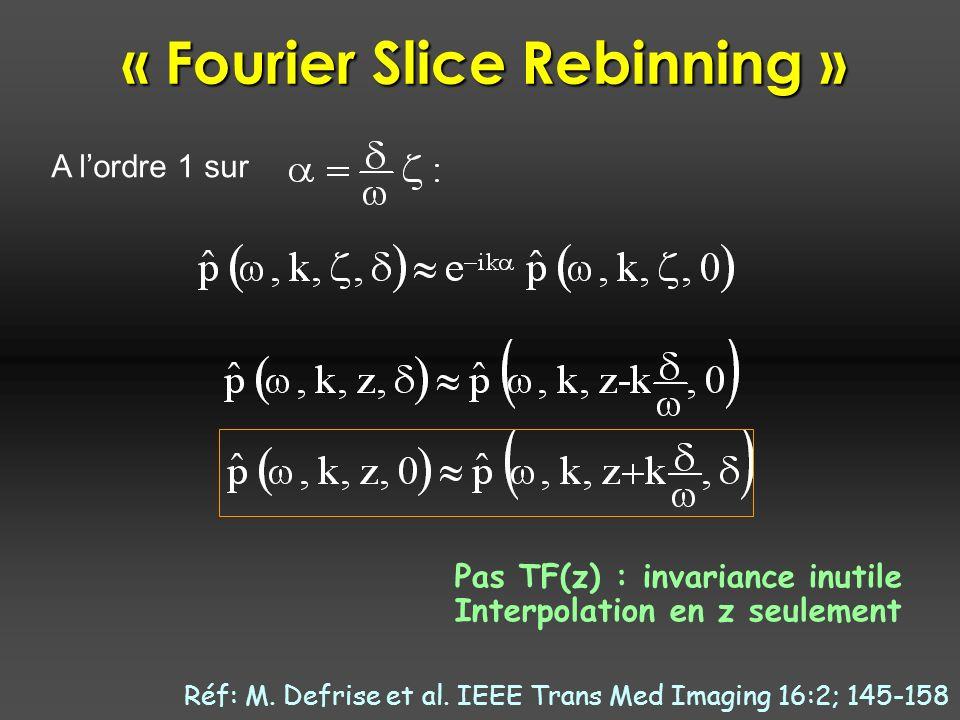 « Fourier Slice Rebinning »