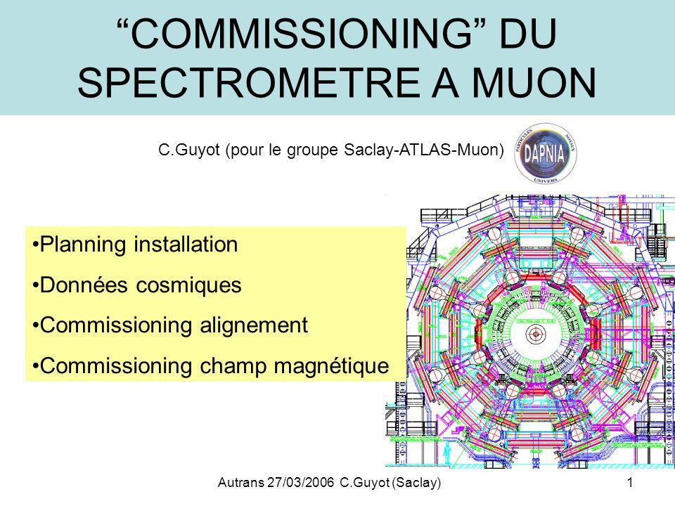 COMMISSIONING DU SPECTROMETRE A MUON