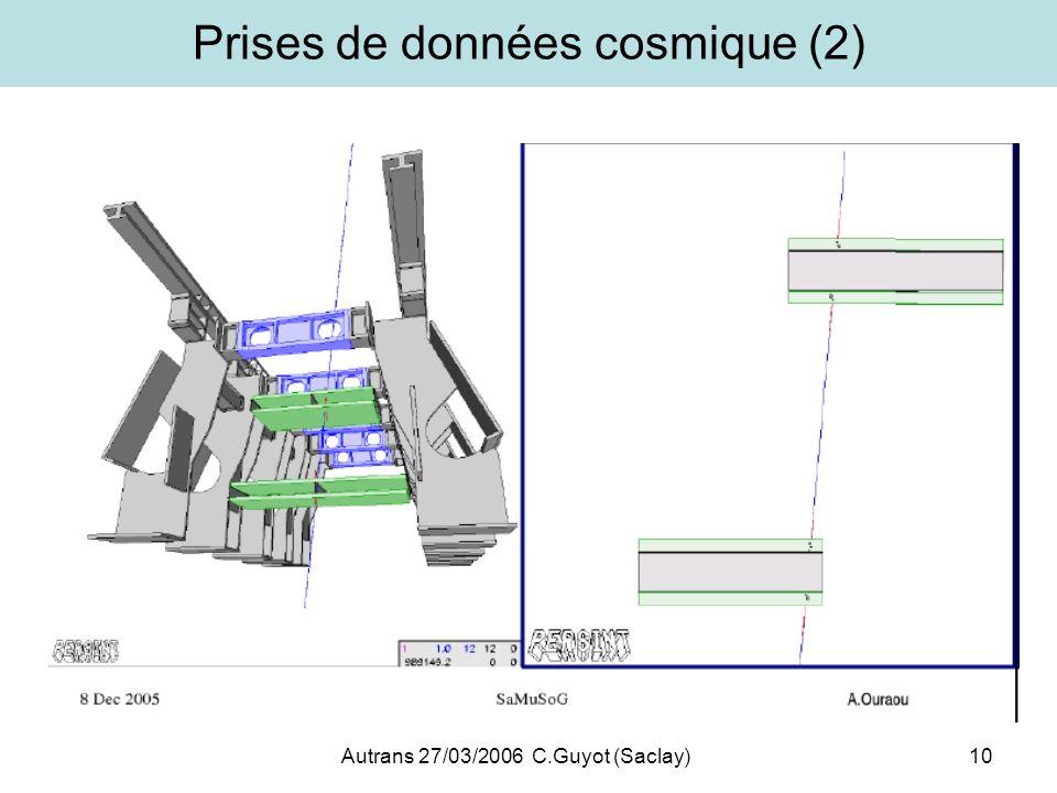 Prises de données cosmique (2)