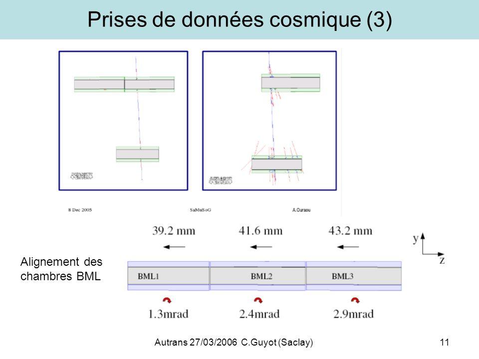 Prises de données cosmique (3)