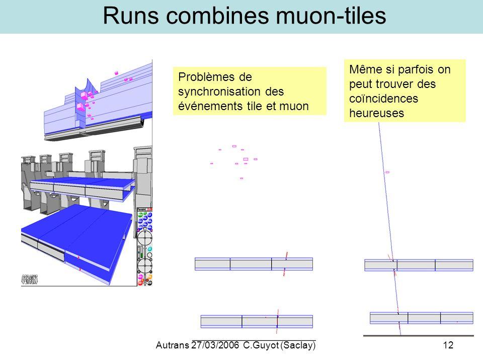 Runs combines muon-tiles