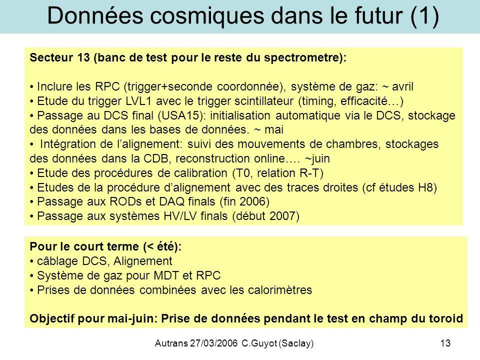 Données cosmiques dans le futur (1)