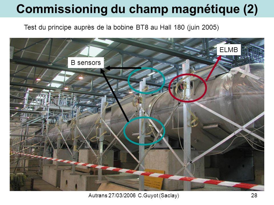 Commissioning du champ magnétique (2)