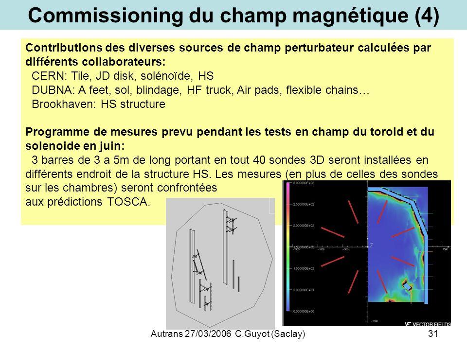 Commissioning du champ magnétique (4)