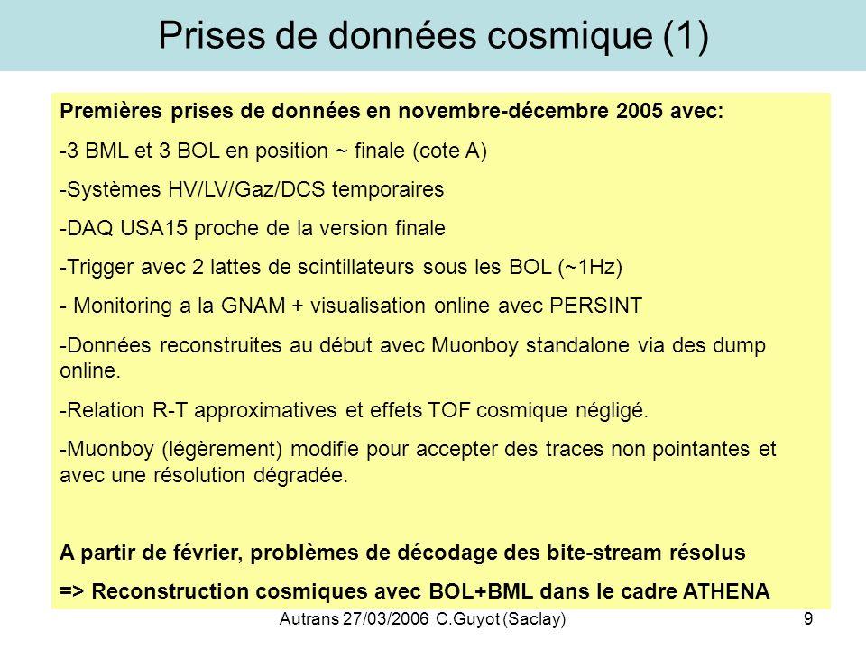 Prises de données cosmique (1)