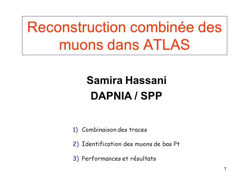 Reconstruction combinée des muons dans ATLAS