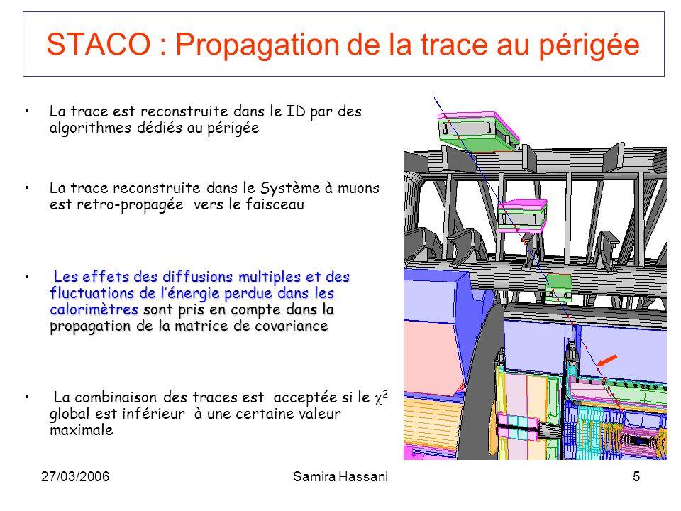 STACO : Propagation de la trace au périgée